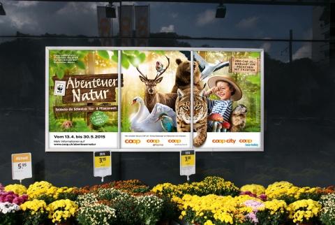 Tierische F12-Plakate am POS.