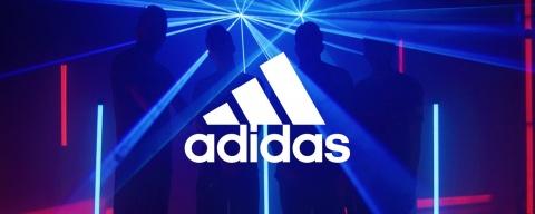 ADIDAS Fussball Logo für die Instagram Launchkampagne des FCB-e-Sports von Valencia