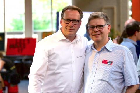 Thomas Schwetje (Coop) und Michael Gerber
