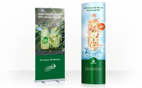 Valencia unterstützt Rhäzünser mit erfrischendem Werbecocktail