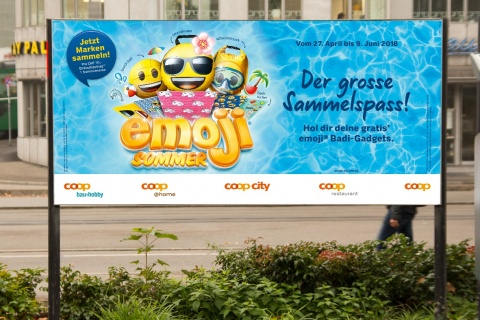 Coop Promotion Emoji-Summer Visual von Valencia Kommunikation