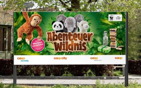 Coop Sammelaktion Abenteuer Wildnis Aussenwerbung