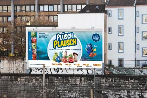 Von Push- bis Megaposter: Das Visual wurde auf alle Formate adaptiert.