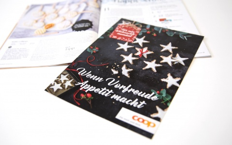 Coop Weihnachtskampagne, festliche Angebote in der Extrabeilage