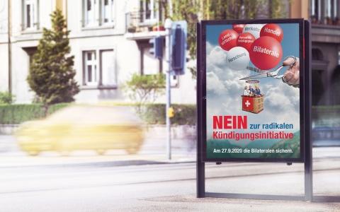 Kampagne für economiesiusse Nein zur Kuendigungsinitiative