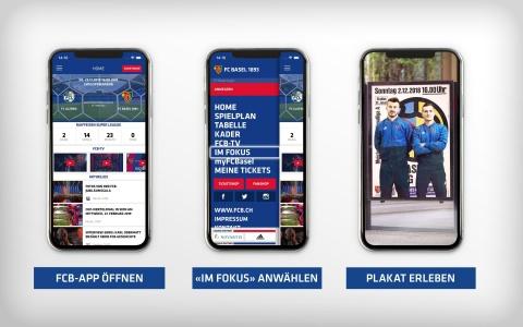 Die neue AR-Funktion in der FCB-App «Im Fokus»