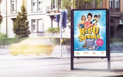 F4-Plakat der Hello Summer Promotion von Coop