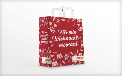 Coop Weihnachtskampagne Min Wiehnachtsmomaent Einkaufstasche
