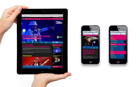 Alles im Griff: Auch auf Tablets und Smartphones lädt die Website ein, das musikalische Angebot zu entdecken.