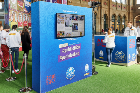 Auf der Social Wall ging's mit #goldedition und #paninisuisse hoch zu und her.