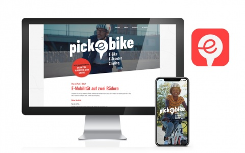 Die responsive Pick-e-Bike Website