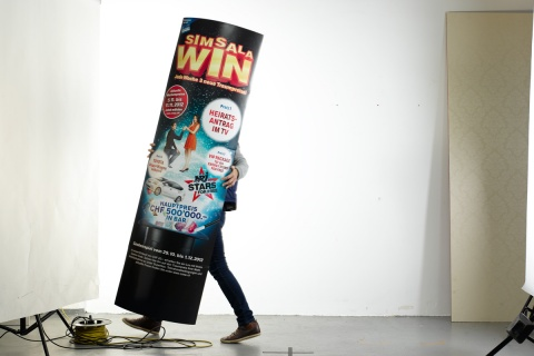 Unkonventionelles Werbemittel: Zur Kommunikation der Wochenpreise wurde auch die markante 3D-Säule eingesetzt.