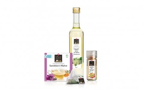 Packaging Design von Valencia über die gesamte Swiss Alpine Herbs Range .
