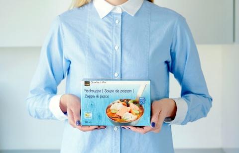 Mmmh: Das Packaging mit Serviervorschlag macht Appetit auf Meer.