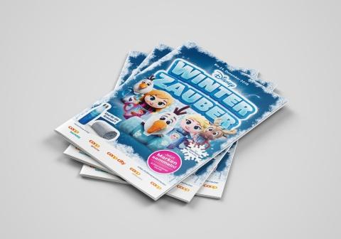 Sammelheft der Disney Winterzauber Sammelpromotion von Valencia