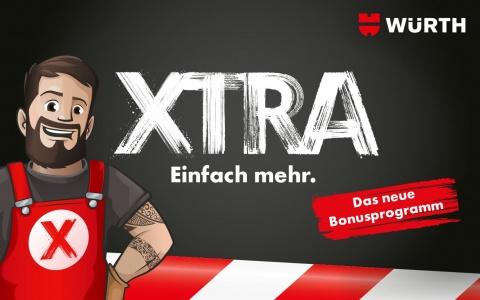 «Max» präsentiert das neue Bonusprogramm XTRA der Würth AG