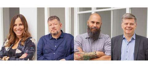v.l. Frédérique Mathys, Marco Rosenberg, Tommy Schilling, Michael Gerber