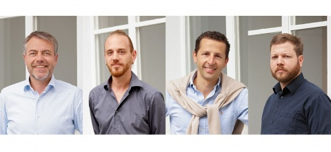v.l. Christian Frey, Raphael Wälterlin, Manuel Bloch, Tizian Schmidlin