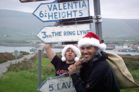 Hohoho, to Valencia we go: Unsere Kläuse Marco und Tommy.