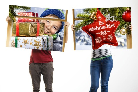 Vom Grossformat bis zum Regalstopper – Weihnachten auf der ganzen Linie.
